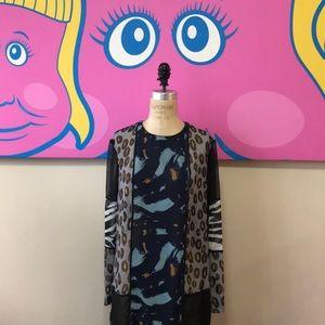 H&M Studio A / W 2014 Blue Animal Print Maxi Dress